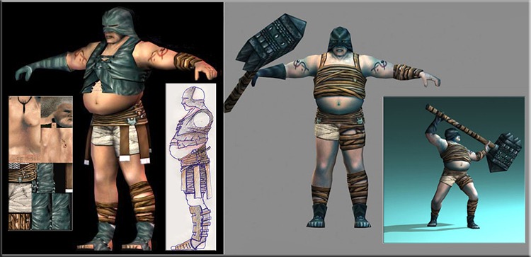 Acclaim Gladiator Sword of Vengeance Hoplomachus. Design Drawer Studios Character development for Games, marketing and branding. 3D CGI bespoke character design.
