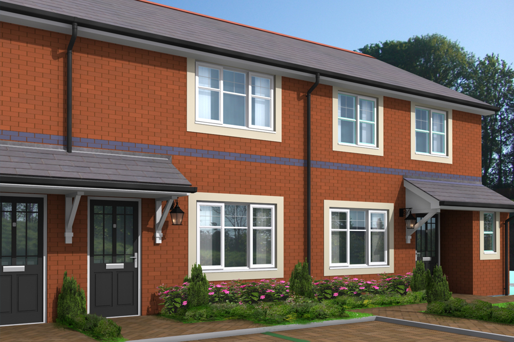 New Build Estate Property Visualisation. Design Drawer Studios, Architectural Visualisation Service includes 3D modelling, interior and exterior CGI renders and innovate presentations that communicate designs from architectural plans to aid marketing, sales and planning permissions