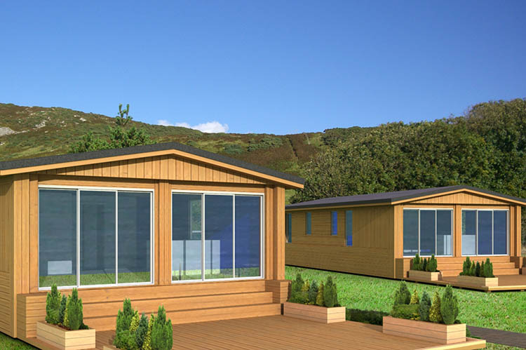 North Wales Chalet Style Static Caravan Holiday Park. Design Drawer Studios, Architectural Visualisation Service includes 3D modelling, interior and exterior CGI renders and innovate presentations that communicate designs from architectural plans to aid marketing, sales and planning permissions